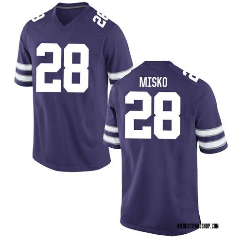 Men's Nike Spencer Misko Kansas State Wildcats Game Purple Football College Jersey