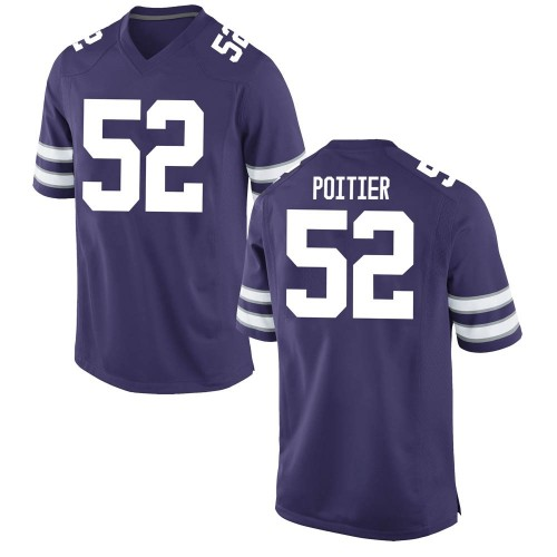Men's Nike Taylor Poitier Kansas State Wildcats Game Purple Football College Jersey