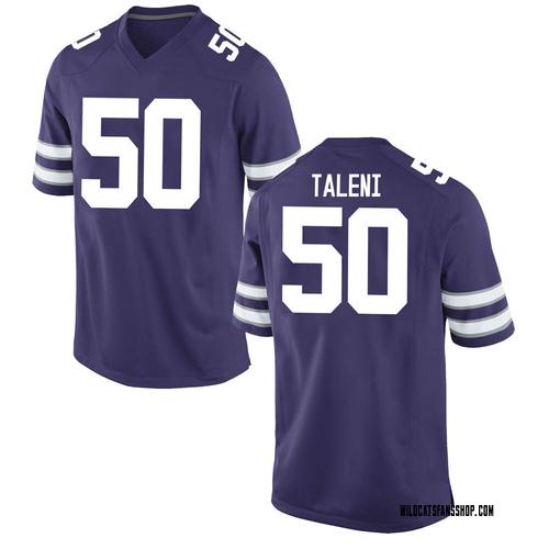 Men's Nike Tyrone Taleni Kansas State Wildcats Game Purple Football College Jersey