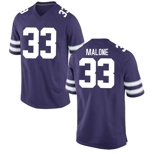 Men's Nike Vaughn Malone Kansas State Wildcats Game Purple Football College Jersey