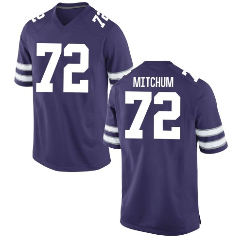 Men's Nike Witt Mitchum Kansas State Wildcats Game Purple Football College Jersey