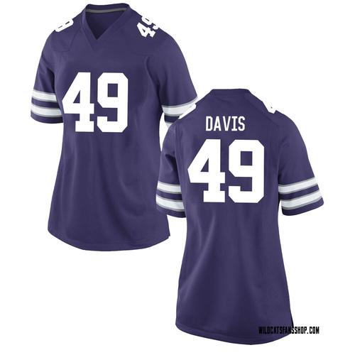 Women's Nike Adam Davis Kansas State Wildcats Game Purple Football College Jersey