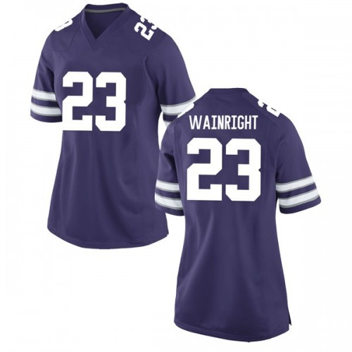 Women's Nike Amaad Wainright Kansas State Wildcats Game Purple Football College Jersey