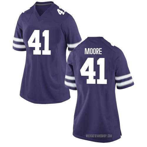 Women's Nike Austin Moore Kansas State Wildcats Replica Purple Football College Jersey