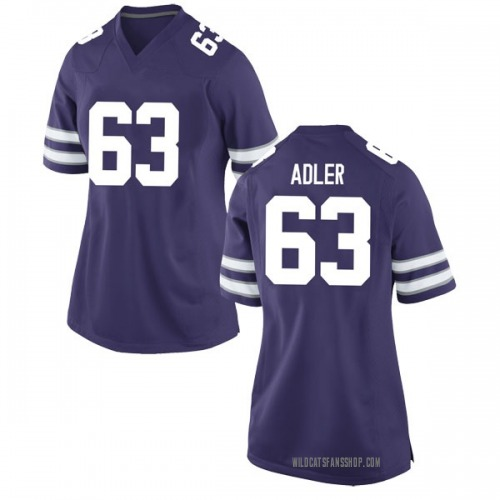 Women's Nike Ben Adler Kansas State Wildcats Game Purple Football College Jersey