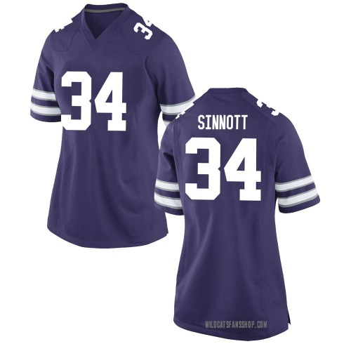 Women's Nike Ben Sinnott Kansas State Wildcats Game Purple Football College Jersey