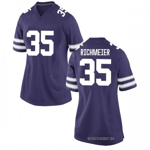 Women's Nike Blake Richmeier Kansas State Wildcats Replica Purple Football College Jersey
