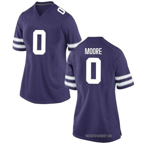 Women's Nike Briley Moore Kansas State Wildcats Game Purple Football College Jersey