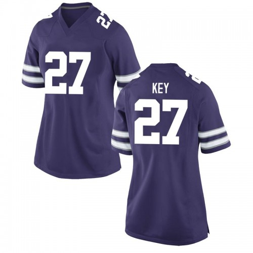 Women's Nike Cameron Key Kansas State Wildcats Game Purple Football College Jersey