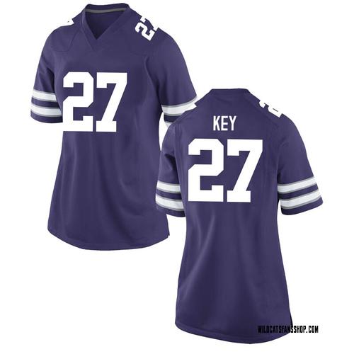 Women's Nike Cameron Key Kansas State Wildcats Replica Purple Football College Jersey