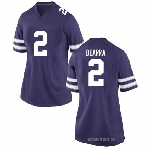 Women's Nike Cartier Diarra Kansas State Wildcats Game Purple Football College Jersey