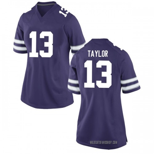 Women's Nike Chabastin Taylor Kansas State Wildcats Game Purple Football College Jersey