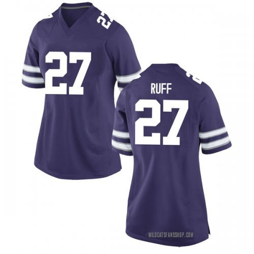 Women's Nike Cornelius Ruff IV Kansas State Wildcats Game Purple Football College Jersey