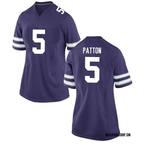 Women's Nike Da'Quan Patton Kansas State Wildcats Game Purple Football College Jersey