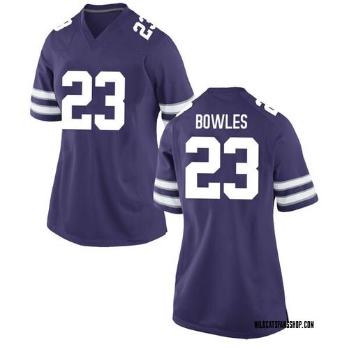 Women's Nike Daron Bowles Kansas State Wildcats Replica Purple Football College Jersey