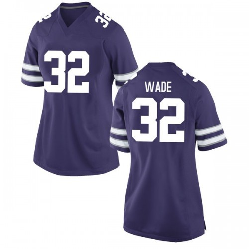 Women's Nike Dean Wade Kansas State Wildcats Game Purple Football College Jersey