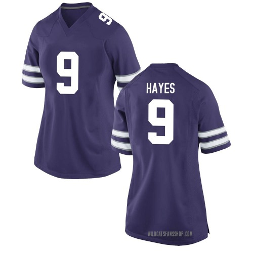 Women's Nike Demarrquese Hayes Kansas State Wildcats Game Purple Football College Jersey