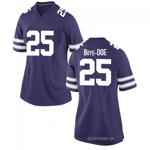 Women's Nike Ekow Boye-Doe Kansas State Wildcats Game Purple Football College Jersey