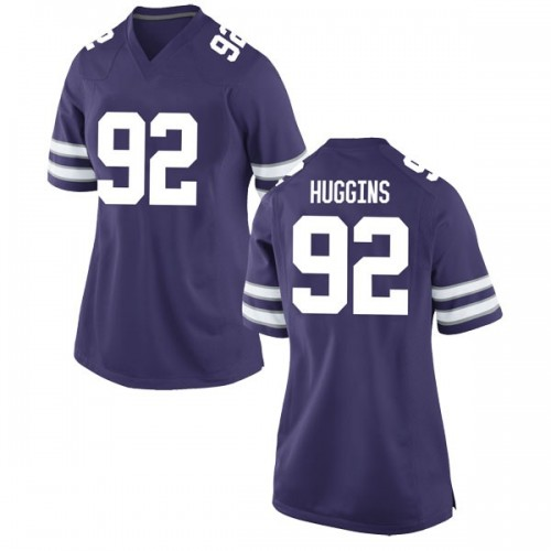 Women's Nike Eli Huggins Kansas State Wildcats Game Purple Football College Jersey