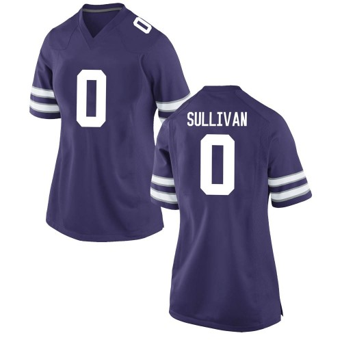 Women's Nike Elijah Sullivan Kansas State Wildcats Game Purple Football College Jersey