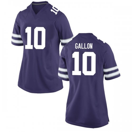 Women's Nike Eric Gallon II Kansas State Wildcats Game Purple Football College Jersey