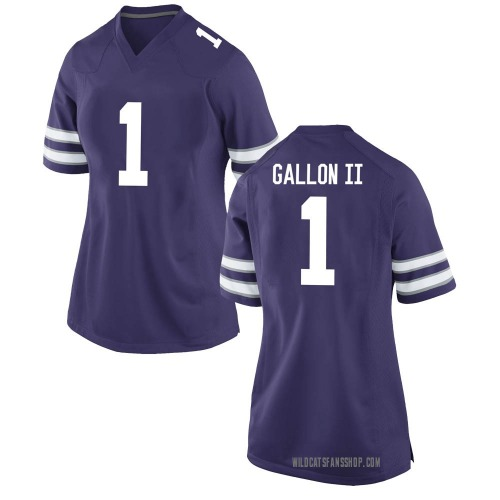 Women's Nike Eric Gallon II Kansas State Wildcats Game Purple Football College Jersey