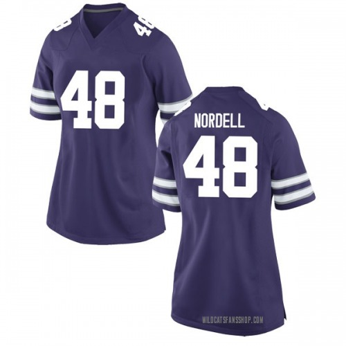 Women's Nike Ian Nordell Kansas State Wildcats Game Purple Football College Jersey