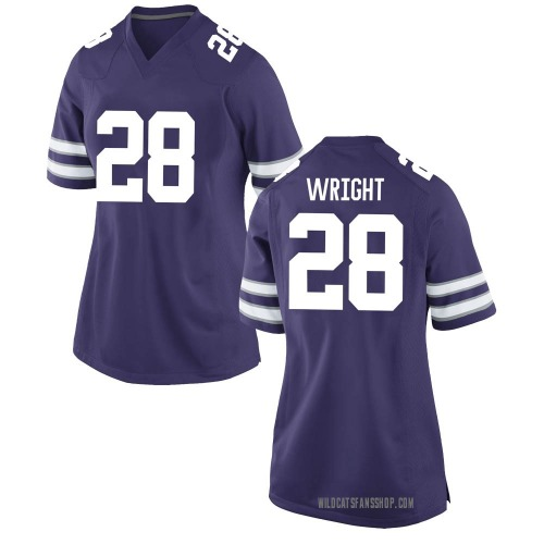 Women's Nike Jacardia Wright Kansas State Wildcats Game Purple Football College Jersey