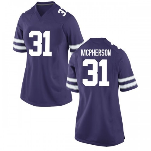 Women's Nike Jahron McPherson Kansas State Wildcats Replica Purple Football College Jersey