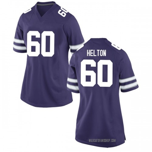 Women's Nike Jake Helton Kansas State Wildcats Game Purple Football College Jersey