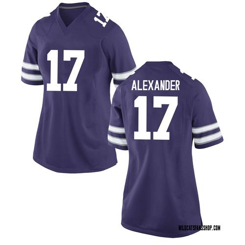 Women's Nike Jonathan Alexander Kansas State Wildcats Replica Purple Football College Jersey