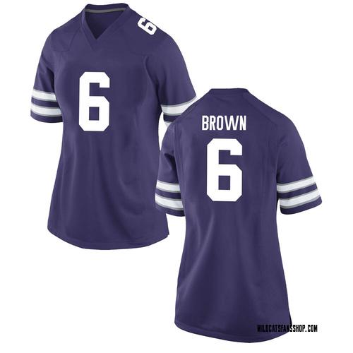 Women's Nike Jordon Brown Kansas State Wildcats Game Purple Football College Jersey