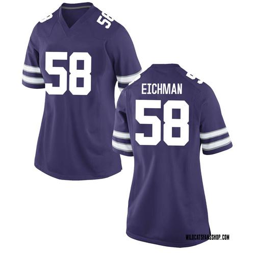 Women's Nike Justin Eichman Kansas State Wildcats Game Purple Football College Jersey
