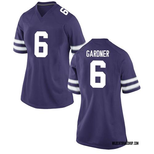 Women's Nike Justin Gardner Kansas State Wildcats Game Purple Football College Jersey