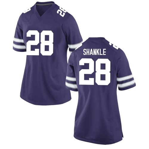 Women's Nike Kaelen Shankle Kansas State Wildcats Game Purple Football College Jersey