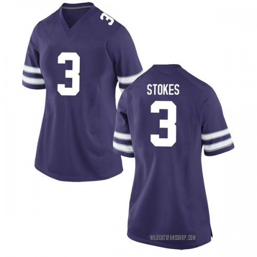 Women's Nike Kamau Stokes Kansas State Wildcats Game Purple Football College Jersey