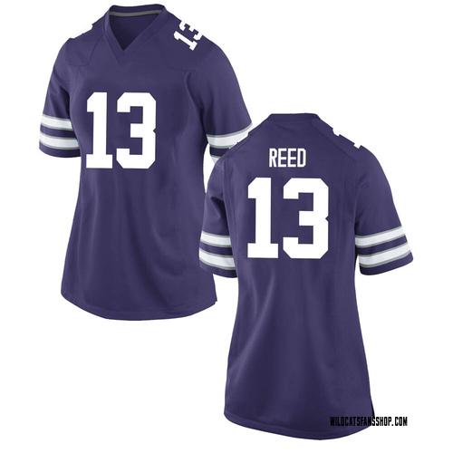 Women's Nike Kenyon Reed Kansas State Wildcats Game Purple Football College Jersey