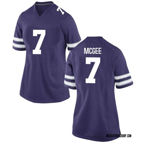 Women's Nike Kevion McGee Kansas State Wildcats Game Purple Football College Jersey