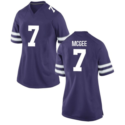 Women's Nike Kevion McGee Kansas State Wildcats Replica Purple Football College Jersey