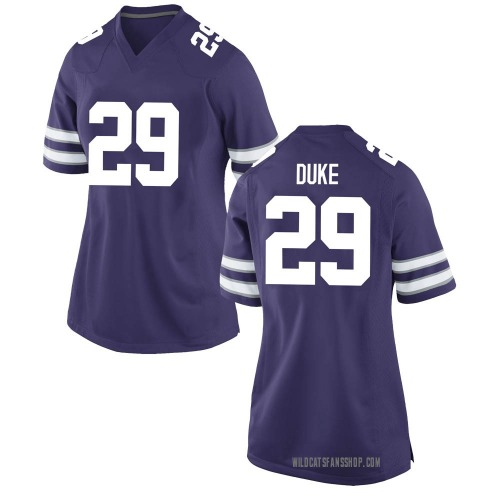 Women's Nike Khalid Duke Kansas State Wildcats Game Purple Football College Jersey