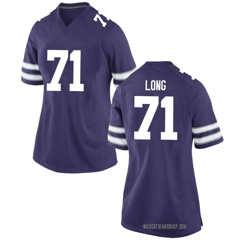 Women's Nike Logan Long Kansas State Wildcats Game Purple Football College Jersey