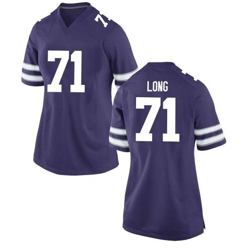 Women's Nike Logan Long Kansas State Wildcats Replica Purple Football College Jersey