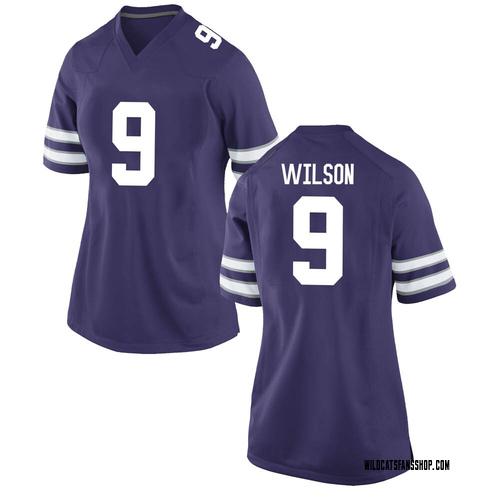 Women's Nike Logan Wilson Kansas State Wildcats Game Purple Football College Jersey