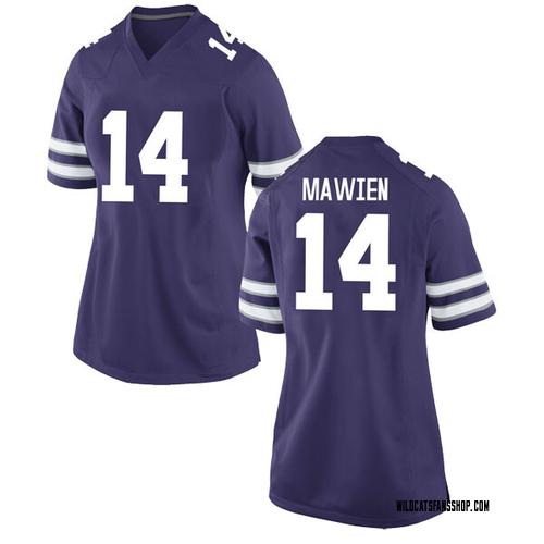 Women's Nike Makol Mawien Kansas State Wildcats Game Purple Football College Jersey