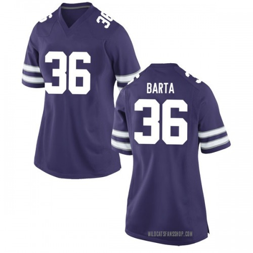 Women's Nike Mason Barta Kansas State Wildcats Game Purple Football College Jersey