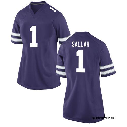 Women's Nike Mawdo Sallah Kansas State Wildcats Game Purple Football College Jersey