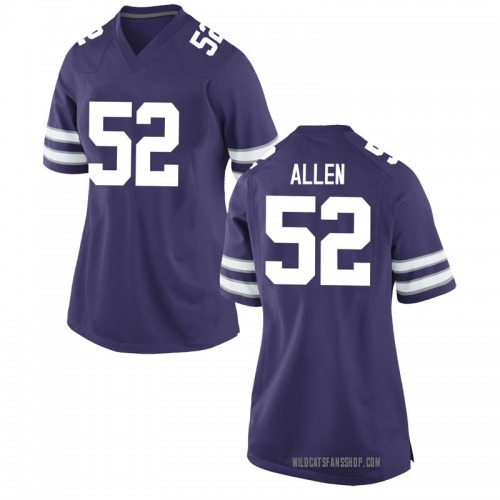 Women's Nike Nick Allen Kansas State Wildcats Game Purple Football College Jersey