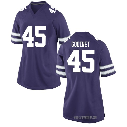Women's Nike Reed Godinet Kansas State Wildcats Game Purple Football College Jersey