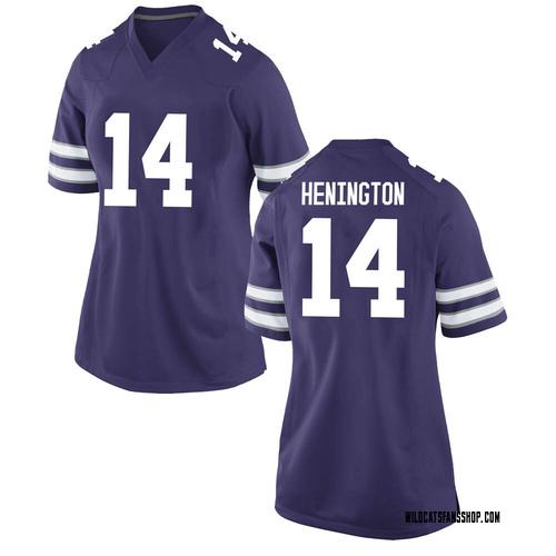 Women's Nike Ryan Henington Kansas State Wildcats Replica Purple Football College Jersey