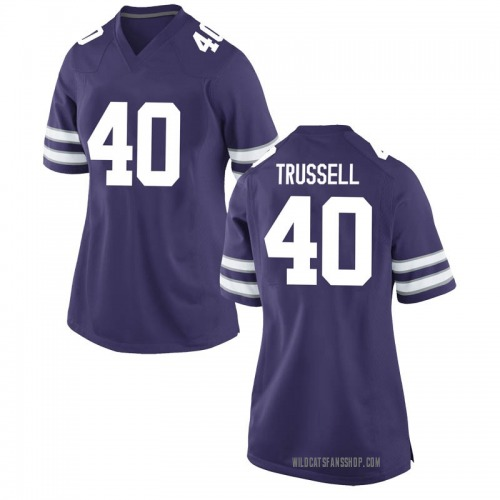 Women's Nike Spencer Trussell Kansas State Wildcats Game Purple Football College Jersey